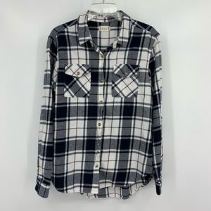 Altar'd State Flannel Button Down Shirt, Size S